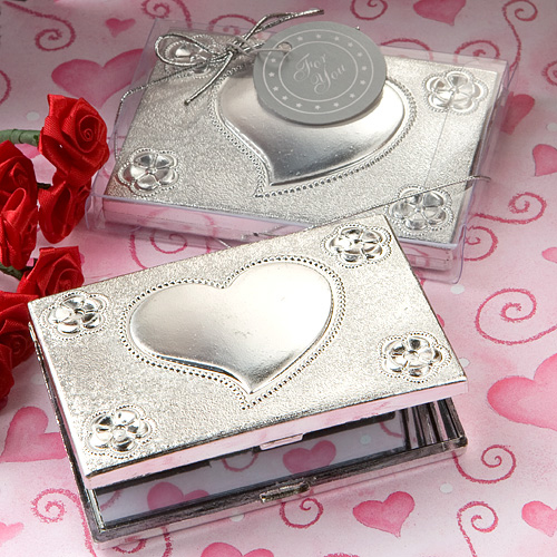 Elegant Reflections Collection Heart Design Mirror Compact