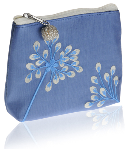 133d61dcea Vintage Blue Flower Embroidered Silk Coin Purse - Only 3 left in stock   SALE -