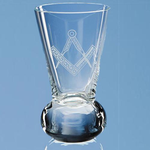 11cm lead crystal firing glass masonic firing glass