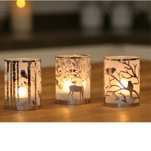 Woodland Tealight Holder Collection - Large
